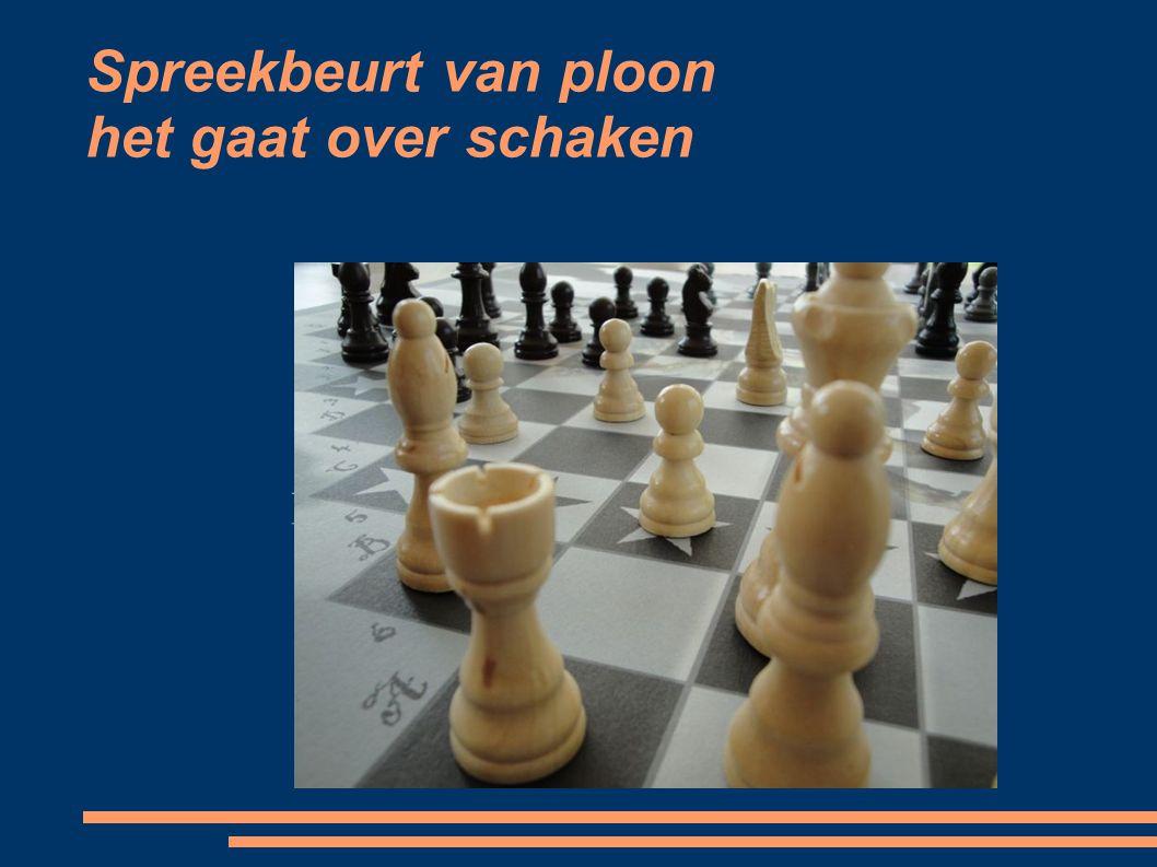 Spreekbeurt van ploon het gaat over schaken
