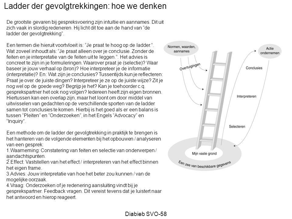 Ladder der gevolgtrekkingen: hoe we denken