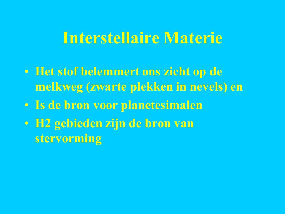 Interstellaire Materie