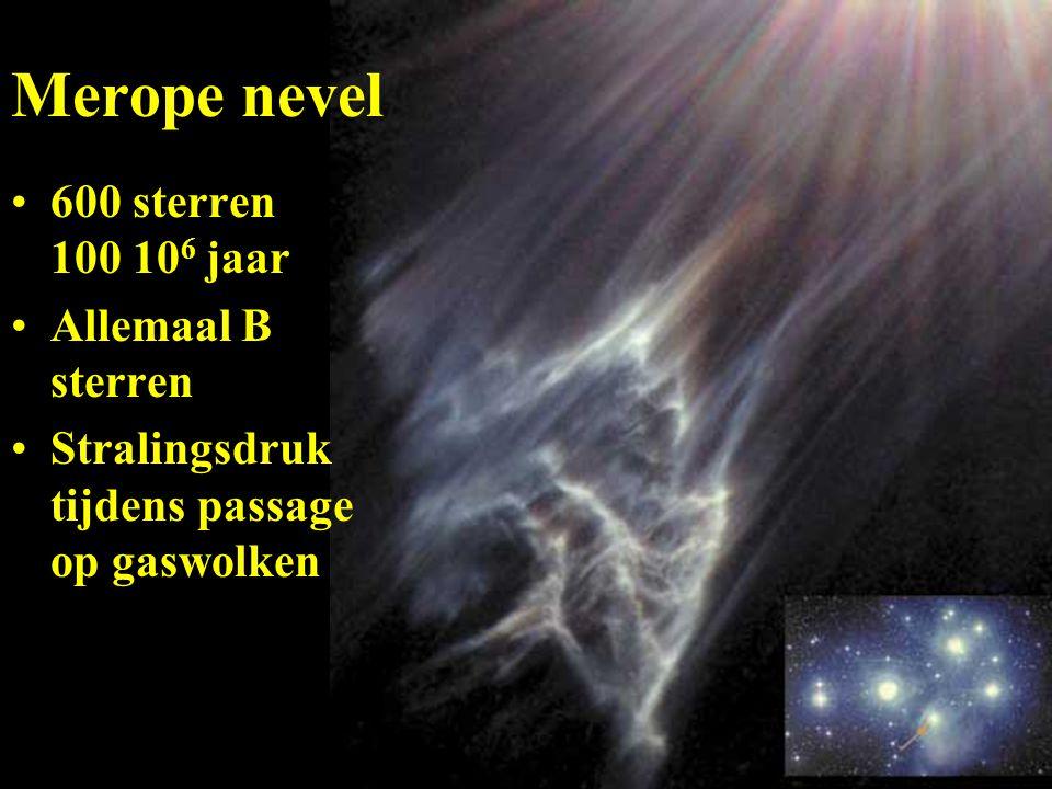 Merope nevel 600 sterren 100 106 jaar Allemaal B sterren
