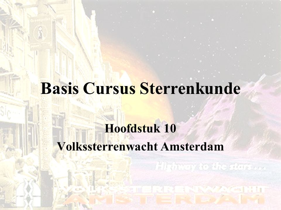 Basis Cursus Sterrenkunde