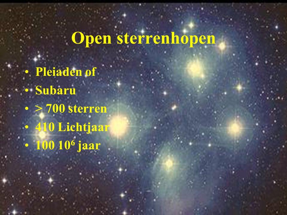 Open sterrenhopen Pleiaden of Subaru > 700 sterren 410 Lichtjaar