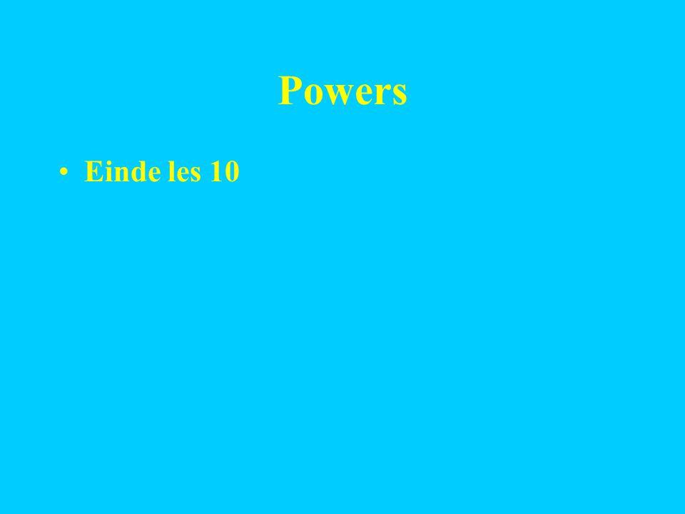 Powers Einde les 10