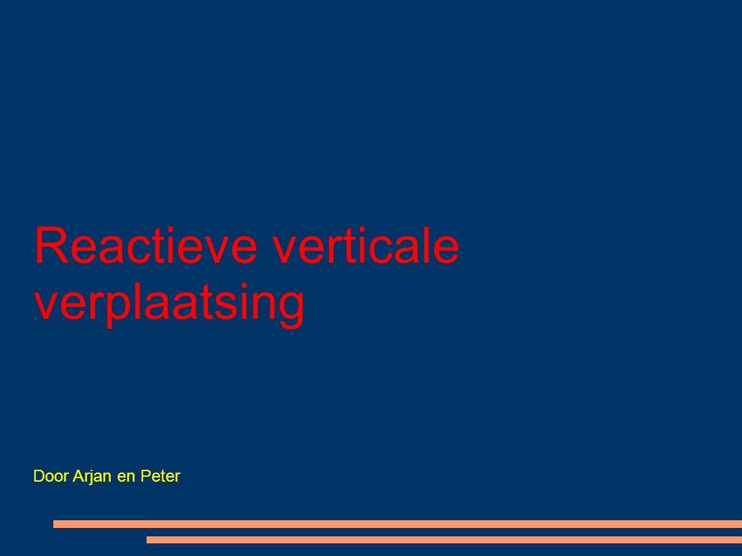 Reactieve verticale verplaatsing