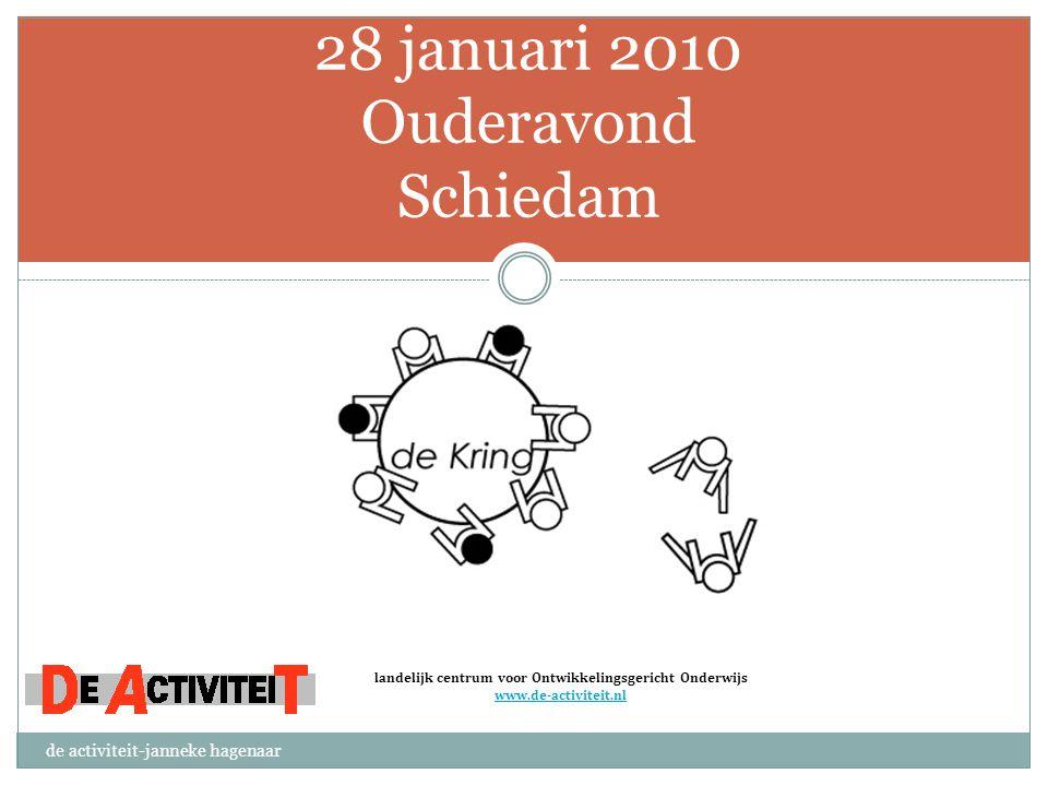28 januari 2010 Ouderavond Schiedam