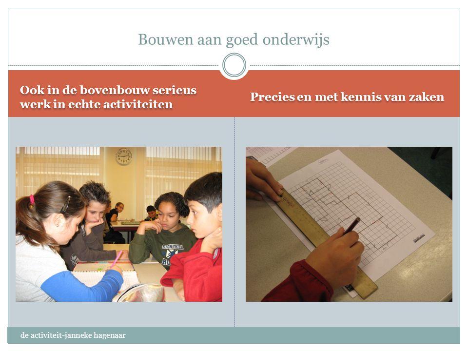 Bouwen aan goed onderwijs