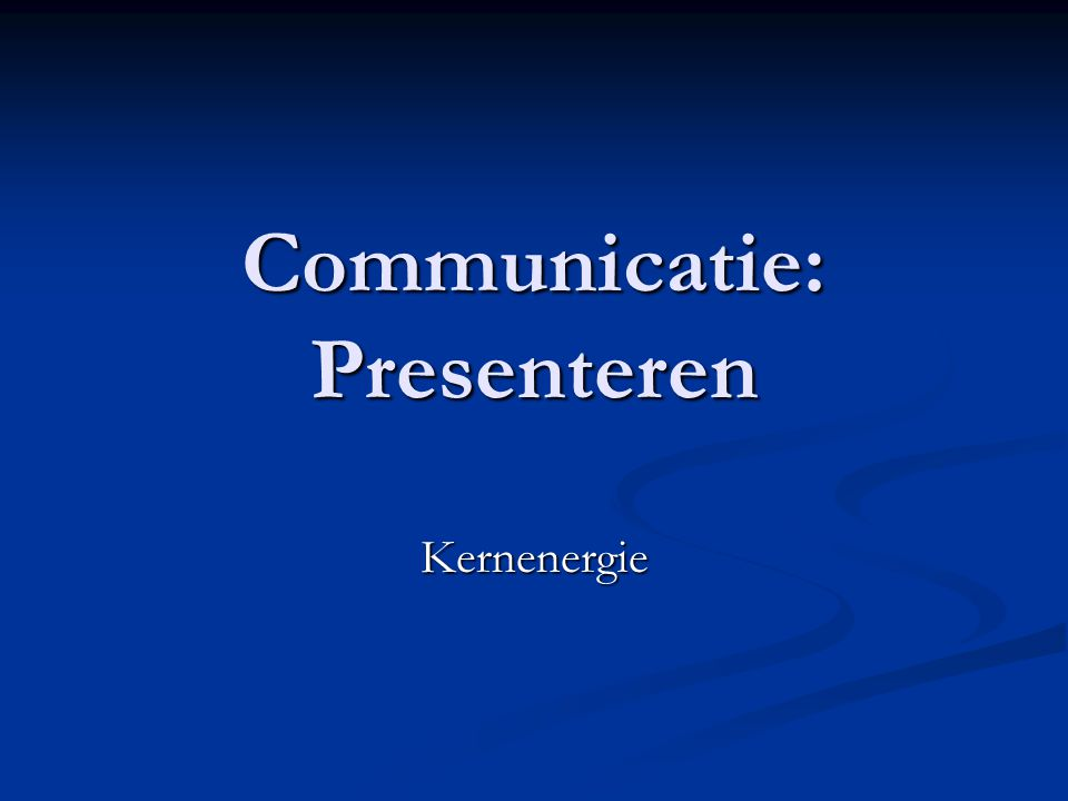 Communicatie: Presenteren