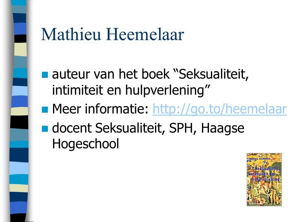 Mathieu Heemelaar auteur van het boek Seksualiteit, intimiteit en hulpverlening Meer informatie: http://go.to/heemelaar.