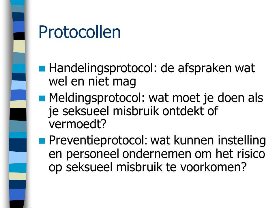 Protocollen Handelingsprotocol: de afspraken wat wel en niet mag