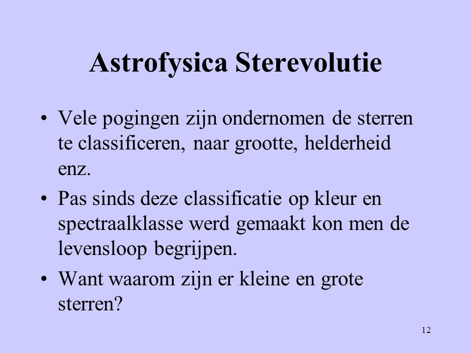 Astrofysica Sterevolutie