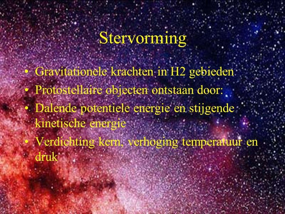 Stervorming Gravitationele krachten in H2 gebieden