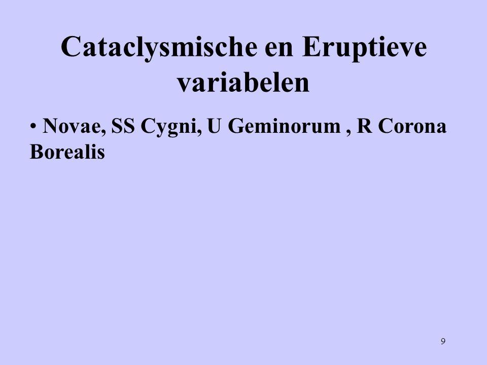 Cataclysmische en Eruptieve variabelen