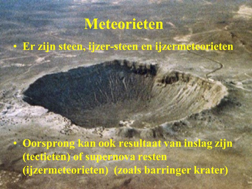 Meteorieten Er zijn steen, ijzer-steen en ijzermeteorieten