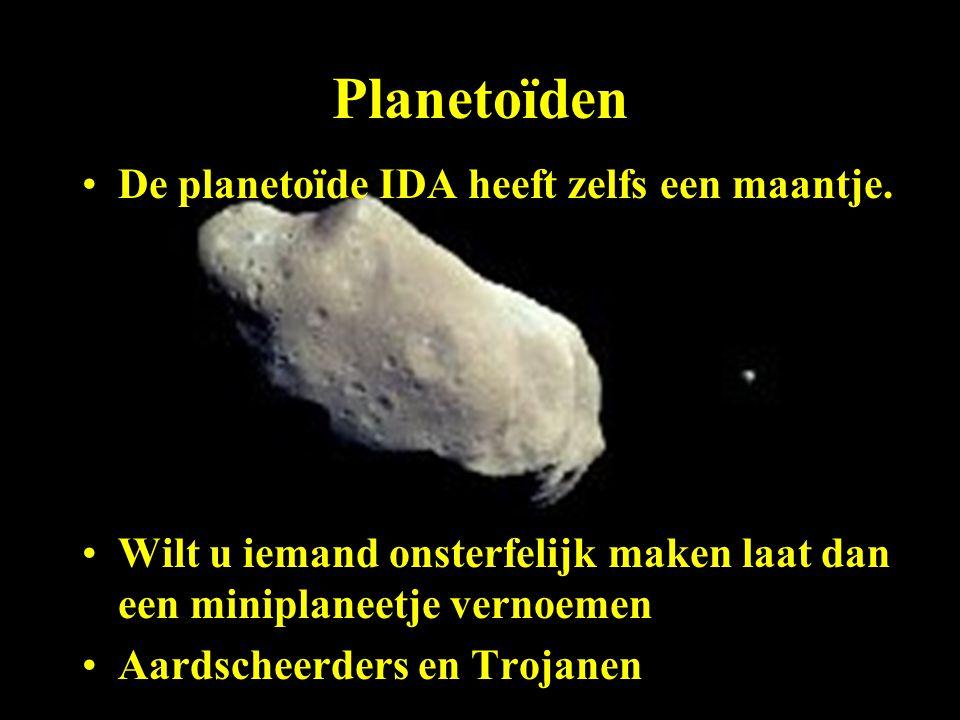 Planetoïden De planetoïde IDA heeft zelfs een maantje.