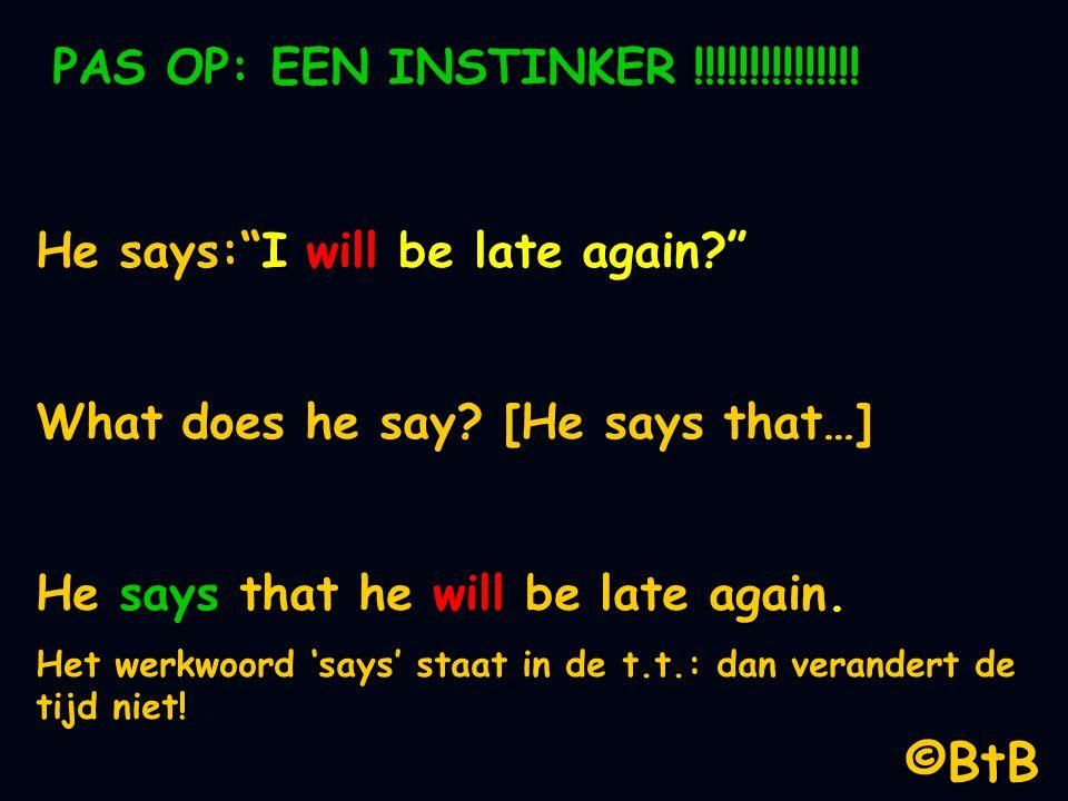 ©BtB PAS OP: EEN INSTINKER !!!!!!!!!!!!!!!
