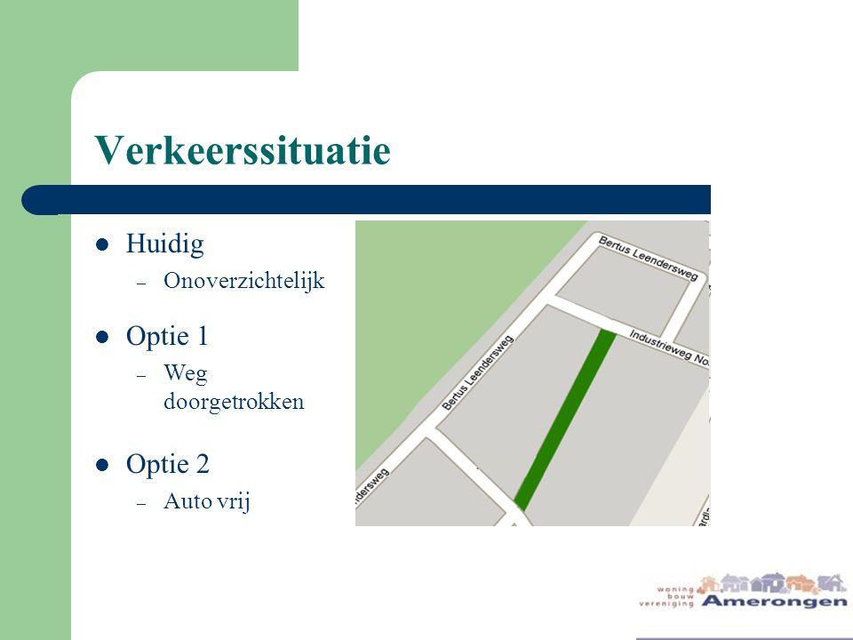 Verkeerssituatie Huidig Optie 1 Optie 2 Onoverzichtelijk