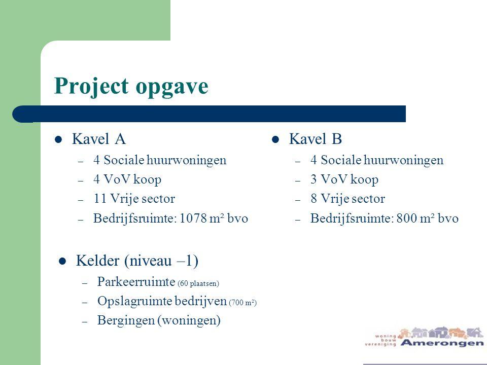 Project opgave Kavel A Kavel B Kelder (niveau –1)