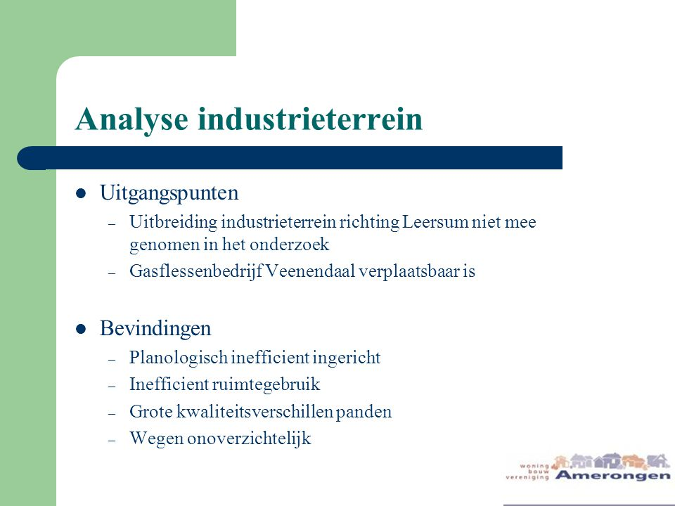 Analyse industrieterrein