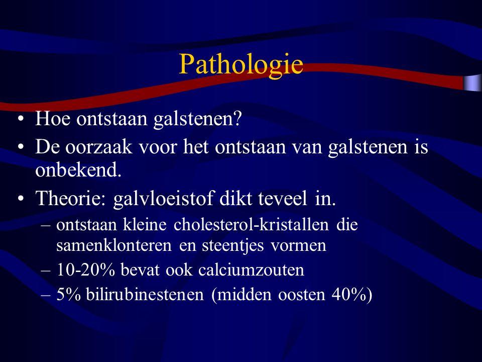 Pathologie Hoe ontstaan galstenen