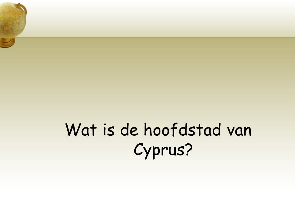 Wat is de hoofdstad van Cyprus