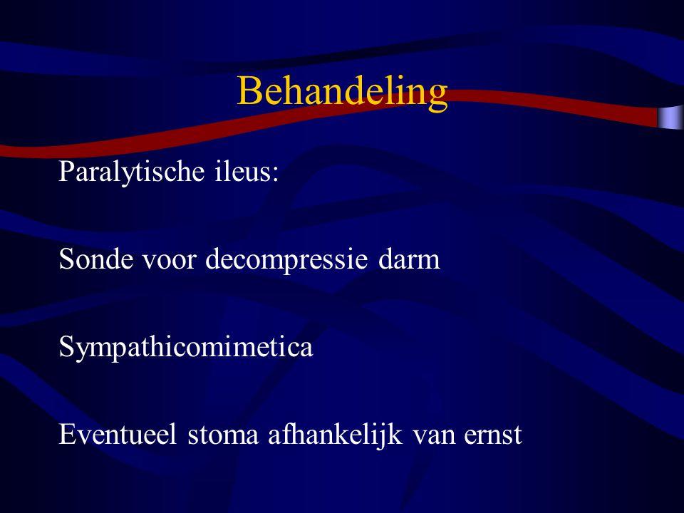 Behandeling Paralytische ileus: Sonde voor decompressie darm