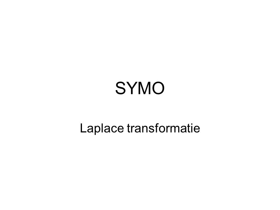 Laplace transformatie