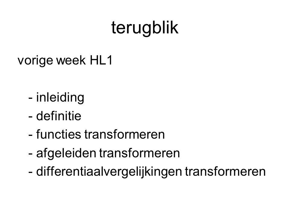terugblik vorige week HL1 - inleiding - definitie