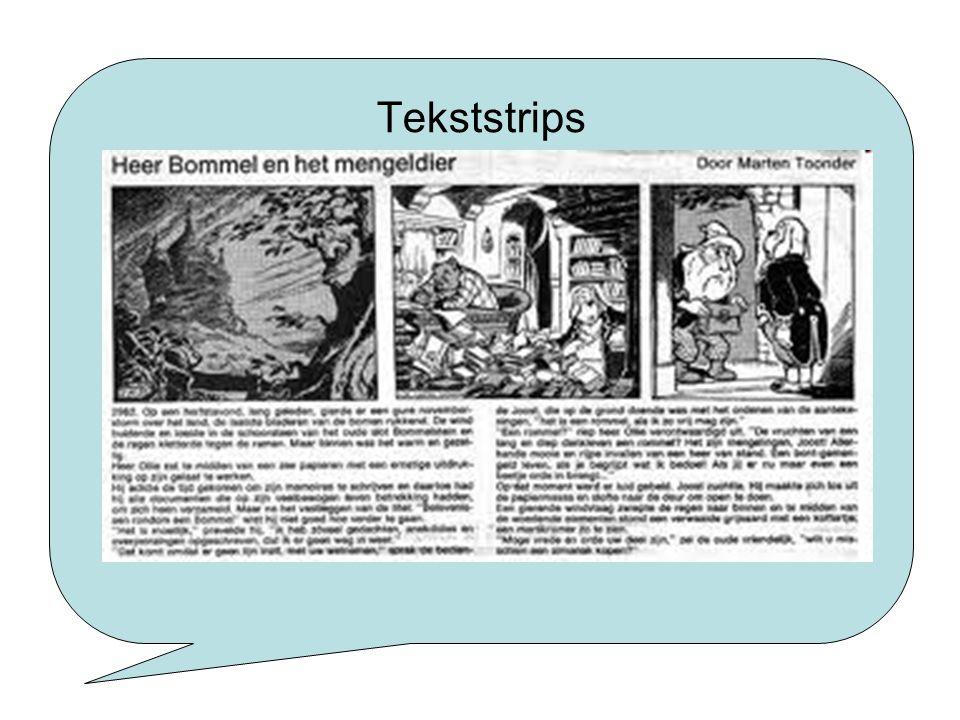 Tekststrips Tekststrip: tekst onder het plaatje staat