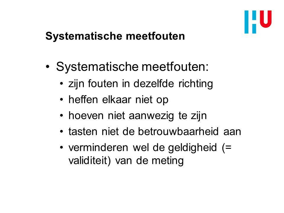 Systematische meetfouten: