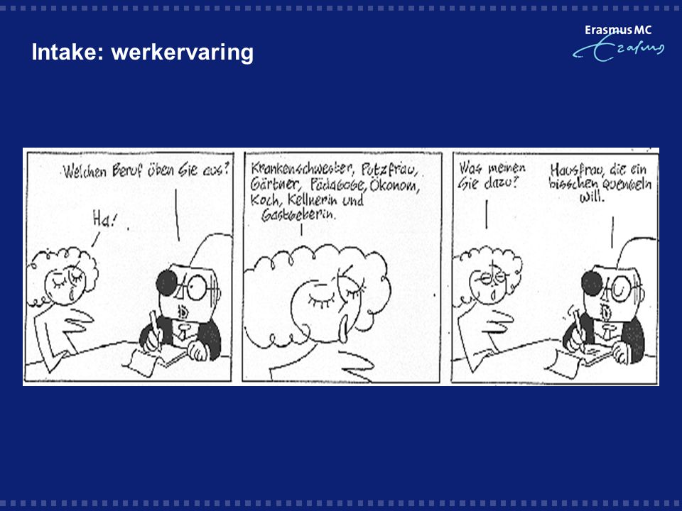 Intake: werkervaring