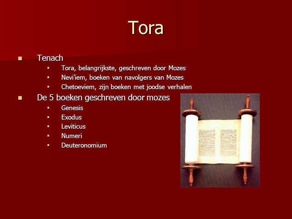 Tora Tenach De 5 boeken geschreven door mozes