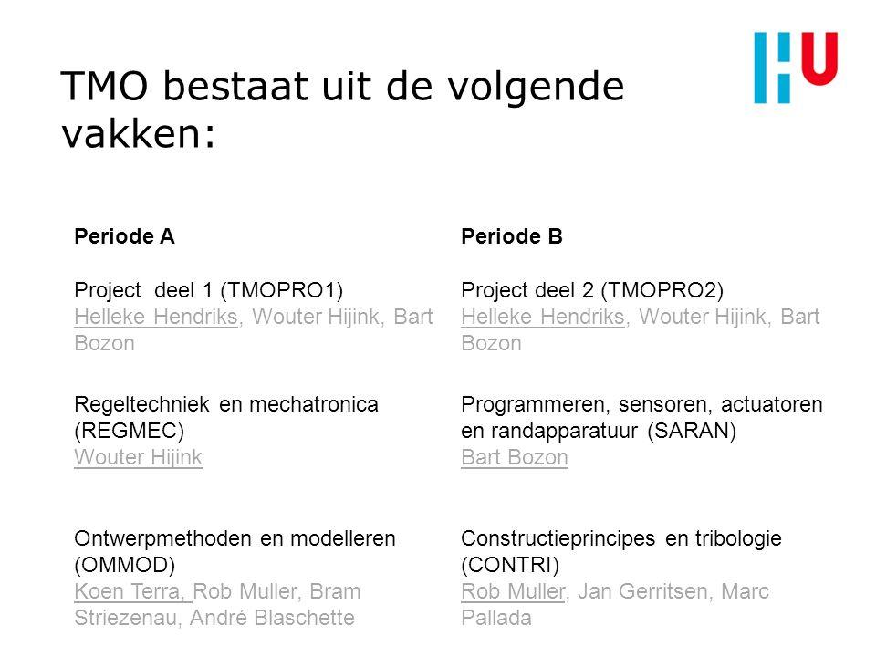 TMO bestaat uit de volgende vakken: