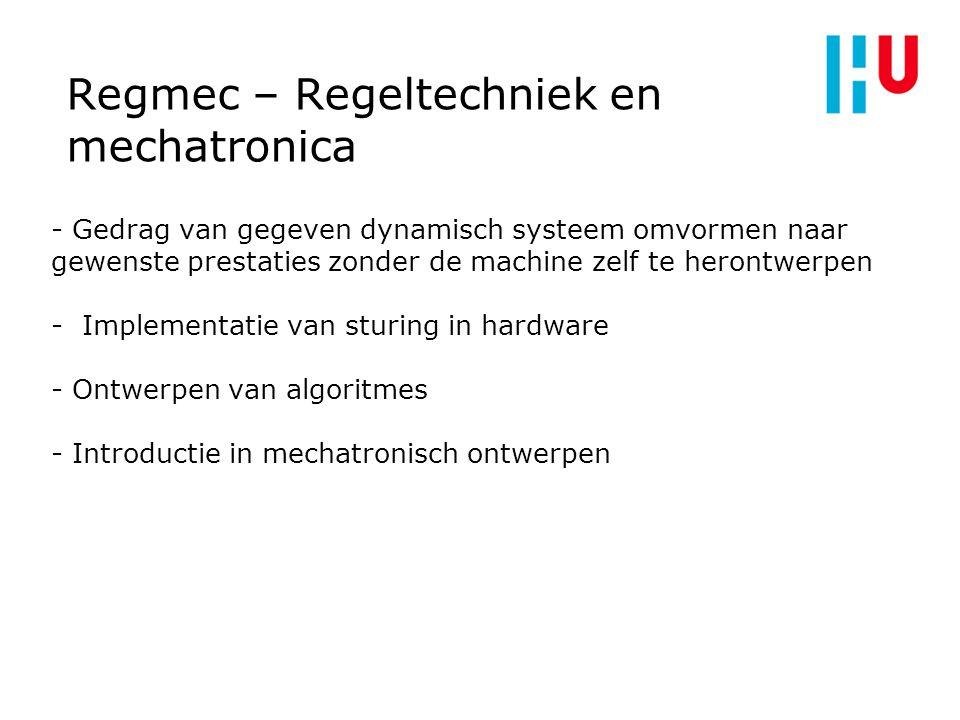 Regmec – Regeltechniek en mechatronica