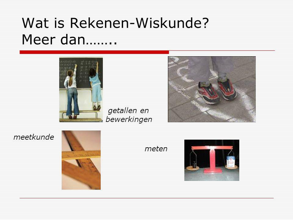 Wat is Rekenen-Wiskunde Meer dan……..