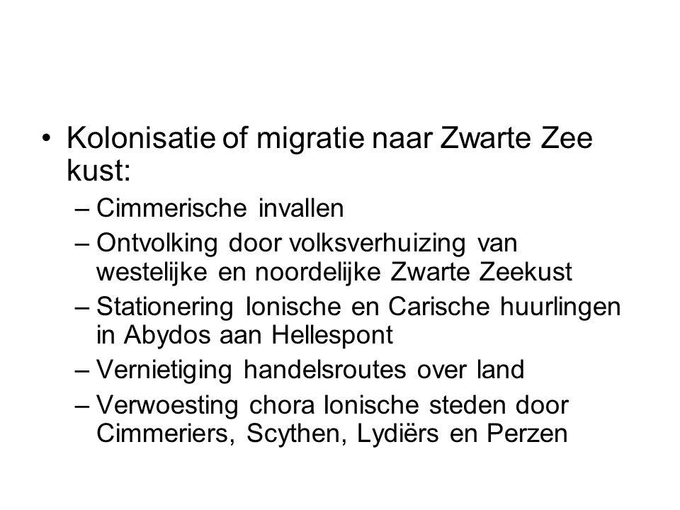 Kolonisatie of migratie naar Zwarte Zee kust:
