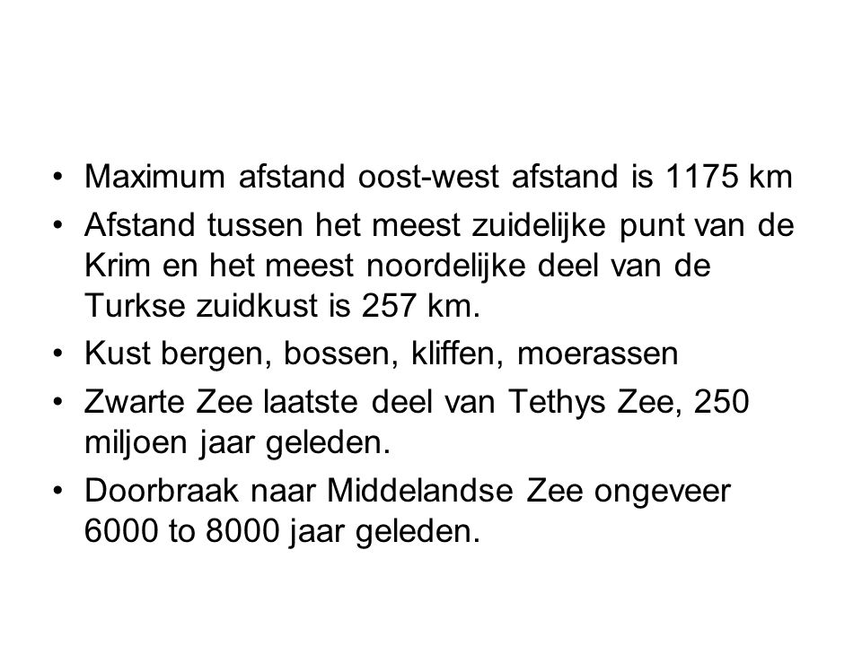 Maximum afstand oost-west afstand is 1175 km