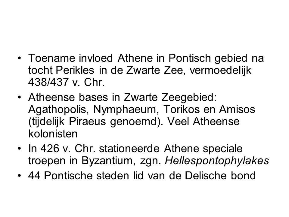 Toename invloed Athene in Pontisch gebied na tocht Perikles in de Zwarte Zee, vermoedelijk 438/437 v. Chr.