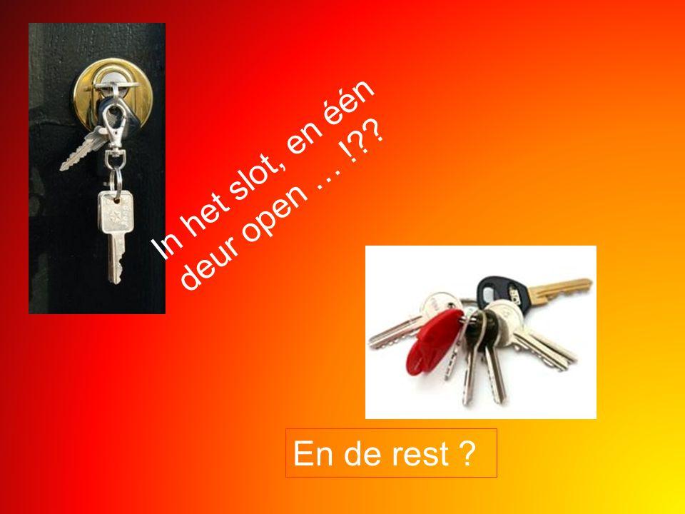 In het slot, en één deur open … !