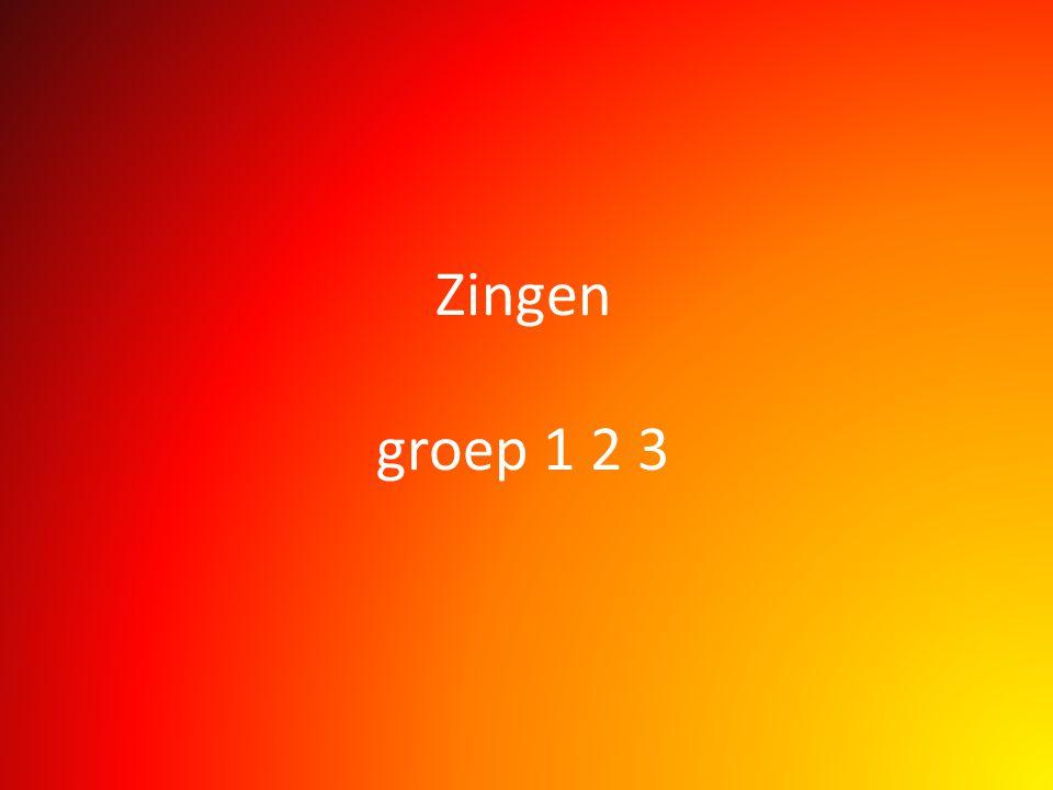 Zingen groep 1 2 3