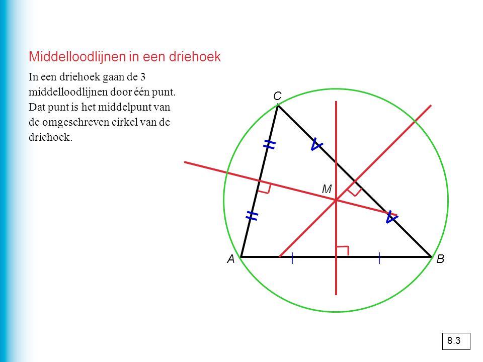 Middelloodlijnen in een driehoek