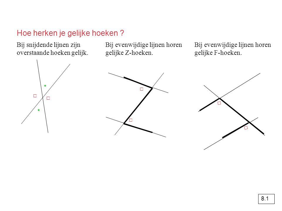 Hoe herken je gelijke hoeken