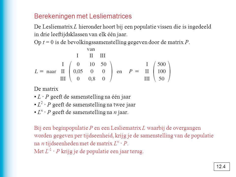 Berekeningen met Lesliematrices
