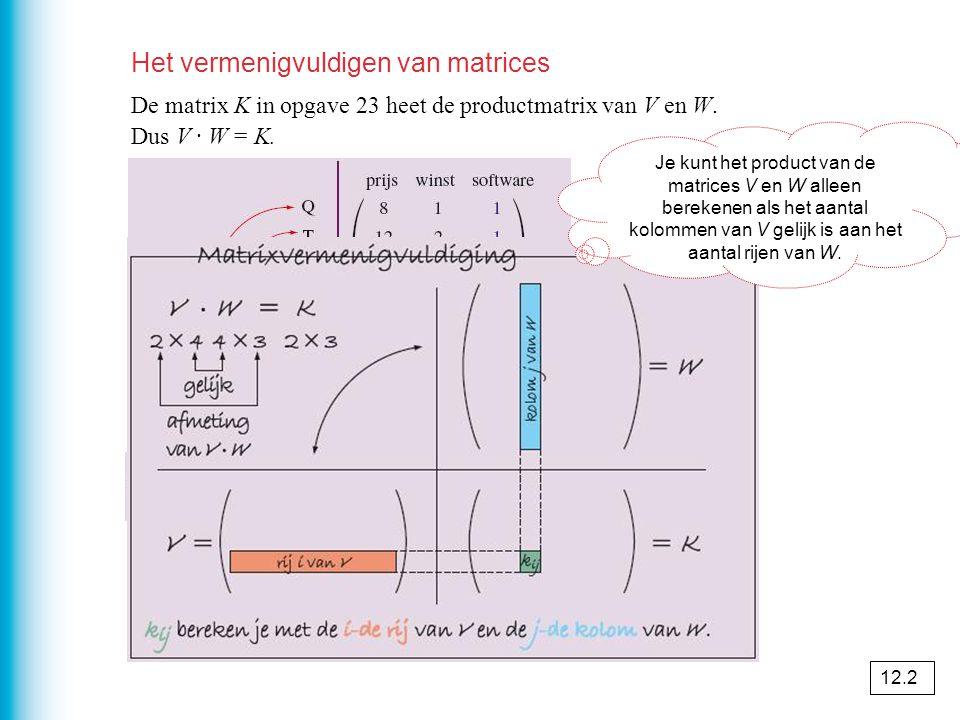 Het vermenigvuldigen van matrices