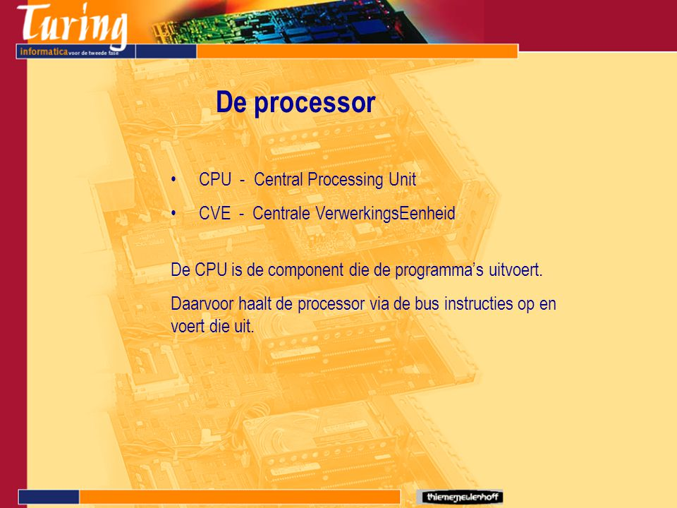 De processor CPU - Central Processing Unit