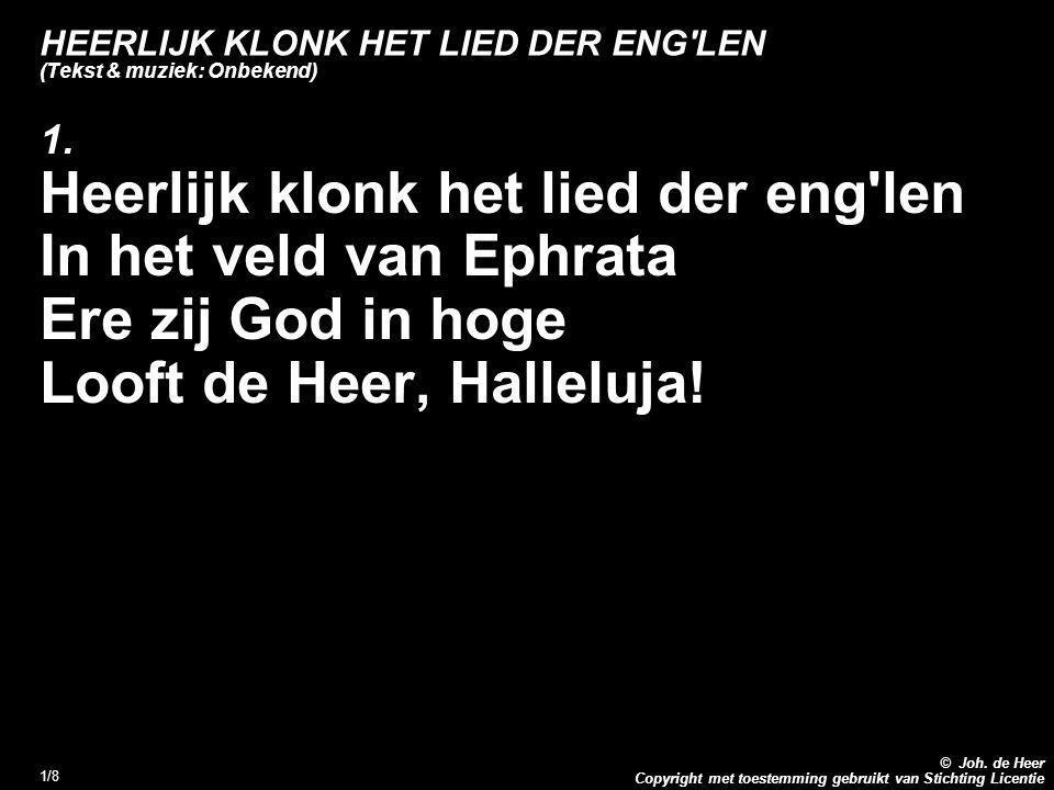 HEERLIJK KLONK HET LIED DER ENG LEN (Tekst & muziek: Onbekend)