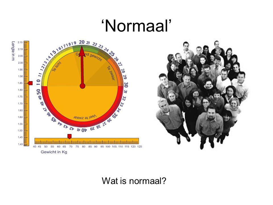 'Normaal' Wat is normaal