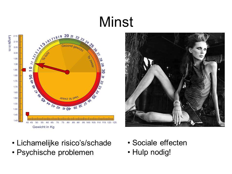 Minst Lichamelijke risico's/schade Sociale effecten