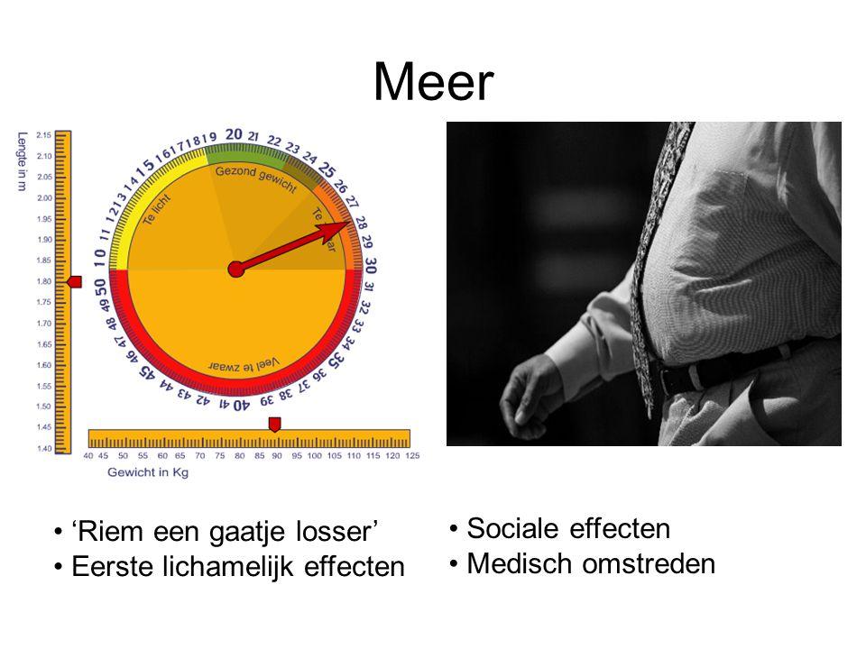 Meer Sociale effecten 'Riem een gaatje losser' Medisch omstreden