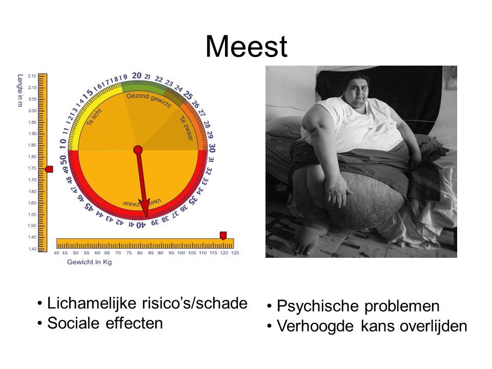 Meest Lichamelijke risico's/schade Psychische problemen