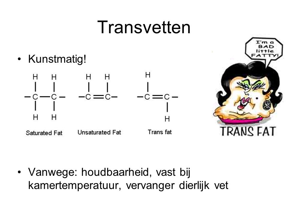 Transvetten Kunstmatig!